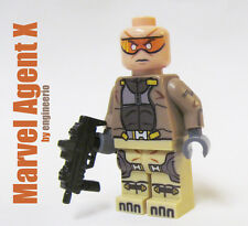 LEGO Custom - Agent X - Minifigure Marvel Deadpool's pal wolverine ironman