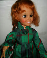 VTG Crissy Doll Ideal 1972 Look Around Crissy Hair Grows Long W/Orig Dress Works