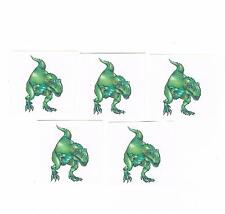 5 x Dinosaur Temporary Tattoos - Great Kids Party Favours