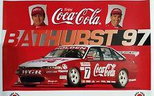 V8 Supercars Gardner Crompton Coca-Cola Bathurst 1997 Poster **Rare**