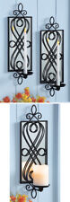 Wall Sconce Metal Scroll Mirrored Home Decor