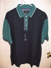 Men's Blue Harbour Tailored Fit Blue Green Polo Size XL by Barks & Spencer - NWT