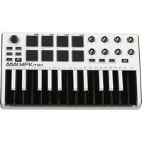 Akai Professional MPK mini MKII MK2 -Compact Keyboard and Pad Controller (White)