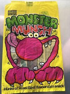 Vintage Monster Munch Crisp Packet 1980s