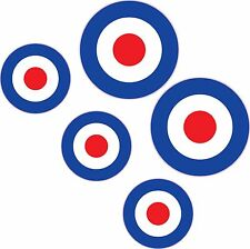 RAF Roundel x 5 Stickers Mod The Who Lambretta Vespa Scooter Bike Vinyl Decals