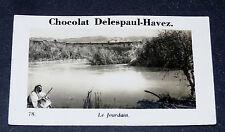 PHOTO CHOCOLAT DELESPAUL-HAVEZ 1950 PALESTINE JOURDAIN TERRE-SAINTE