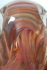 Vintage Gentile Glass Co. Multi color art glass Paperweight Pen & Pencil Holder