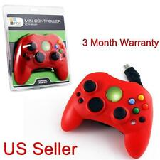 XBOX CONTROLLER S WIRED SOLID RED FOR THE ORIGINAL XBOX BRAND NEW SEALED