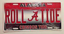 University Alabama Crimson Roll Tide Metal Car Tag Truck Auto License Plate NCAA