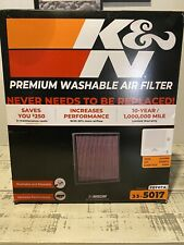K&N 33-5017 Replacement Air Filter FOR 14-20 Sequoia & Tundra & 2016-2020 Tacoma
