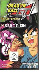 Dragon Ball GT: The Lost Episodes - Vol. 1: Reaction (VHS, 2004, Edited) NEW CC