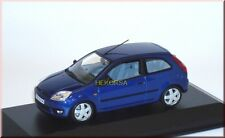 Ford Fiesta 2002 3-türig 3-door - blau blue bleu met. - Minichamps 1:43 - dealer