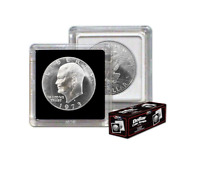 (3) BCW Premium 2x2 Snap Large Dollar Coin Holders 38.5mm Black Frame