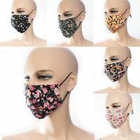 Mundmaske Blumen Paisley Muster mehrfarbig Behelfsmaske Fashion-Maske waschbar