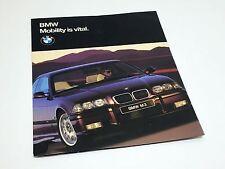 1997 BMW 3 5 7 8 Z3 Series M3 Sedan Poster Brochure