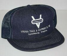 Vintage Virginia Track Equipment Hat Lynchburg Va Denim Trucker Hat Rare Tractor