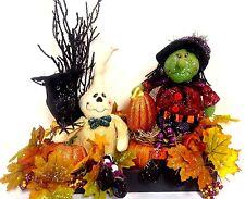 "SALE Halloween Witch & Ghost Arrangement Centerpiece Table Decor LRG 22"" X 18"""