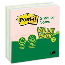 24 Pads Post-it Greener Notes Greener  Notes 3 x 3 Pastel 1800 Sheets 4 PK