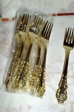 WALLACE ANTIQUE BAROQUE GOLD SALAD DESSERT FORK (s)  NEW