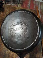 Martin Stove and Range Co. #8 Cast Iron Skillet with Heat Ring – Hamburger Logo