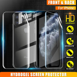 For Apple iPhone 12 Mini 11 Pro XS MAX XR 7 8 6S Plus HYDROGEL Screen Protector