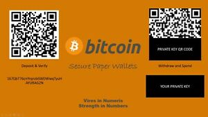 Bitcoin Paper Wallet. Secure Offline Cryptocurrency Storage for BTC, BCH, BSV