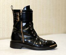 1800$ LOUIS VUITTON LV black lace up combat boots 39.5 fit 39-40 uk6-6.5 us8.5-9