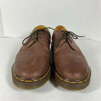 Dr. Martens Mens Oxfords Shoes Brown Leather Lace Up Low Top Size 9 England