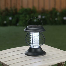 Solar Powered Lighted Tabletop Hanging Mosquito Bug Zapper Lantern