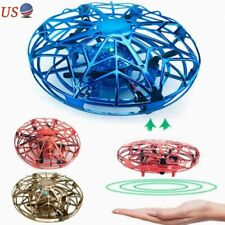 Mini LED Drone Hand-Controlled Flying Toy Induction Aircraft Helicopter for Kids