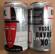 2 Vintage OK SODA CANS Empty 12 oz. Aluminum Coca-Cola 1994