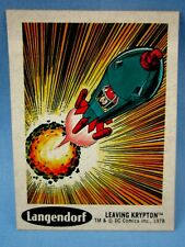 1978 SUPERMAN  DC STICKER #5 (LEAVING KRYPTON) SUNBEAM TAYSTEE BREAD LANGENDORF