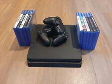 Sony PlayStation 4 Slim 1tb mit 2 Controllern und 11 Spielen