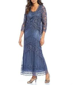 Mother of the Bride Dress - Soulmates, Jacket Dress, Graphite (Blue/Gray)