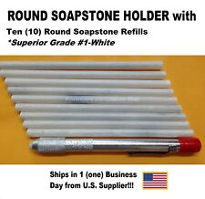 ROUND SOAPSTONE HOLDER WITH  10 REFILLS-BEST BUY-SHIP IN THE USA-AFFORDABLE
