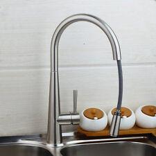 Acier inox Robinetterie de lavabo Robinet d'évier de cuisine,360 ° pivotant