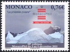 "Monaco 2015 ""MonacoPhil '15""/Polar Stamp Exhibition/Icebergs/StampEx 1v (mc1047)"