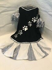 Dog Cheer Tee: Costume (Large) Black, Silver And White