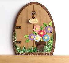 Handpainted Fairy Door - Elves Pixie Tooth Fairy Gift Skirting Board Decor