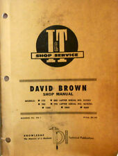 David Brown I&T Shop Manual, Models 770 to 4600, See Description..MC