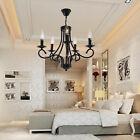 5 feux Lustre plafonnier contemporain lampe chromé design classique élégant