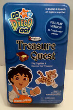 Nick Jr Go Diego Go Treasure Quest Colorforms Tin Travel Excellent Conditon
