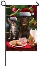 Mini Flag - For Santa Only Welcome Garden Flag - Evergreen - Christmas / Winter