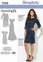 Simplicity Sewing Pattern 1249 Miss Amazing Fit Dress in Two Lengths Size 10-18