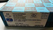 NEW 25 pcs PFERD Trennscheiben EHT 150-1,6 A46 R SG-INOX 61342122 cut off wheels