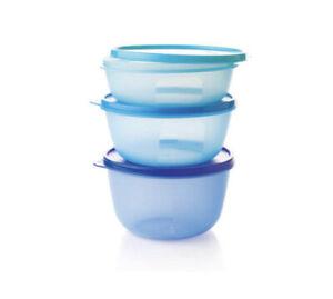 Tupperware Space Saver Fridge Bowls (3) New