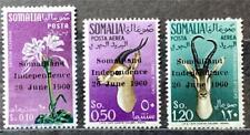 More details for somalia. definitive stamp set. optd. sg353/55. 1960. #ets127.