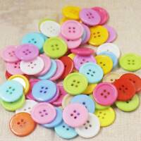 100x 4 Holes 20mm DIY Extra Large Plastic Buttons Sewing Craft Various Colors