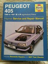 Peugeot 405 Haynes manual 1988 to 1997 (E to P registration) PETROL