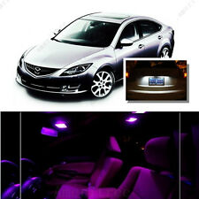 For Mazda 6 2009-2013 Pink LED Interior Kit + Xenon White License Light LED